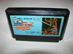 Zenbei Pro Basket Basketball Famicom NES Japan import US Seller