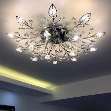 35''Modern LED Creative K9 Crystal Ceiling Chandelier Lamp Lighting Pendant G24
