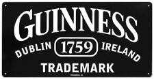 Guinness Trademark Tin Sign 14 x 7in
