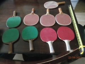 Firestone Table Tennis Paddles Bats Lot Set of 9 Ping Pong 3 Ply Indoor Games