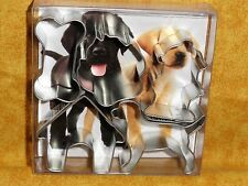 "Puppy,Dog,Canine Mini,Cookie Cutter Set, Tiny,1.5"",OTBP,5 Pc.Metal,Labrador,Bone"
