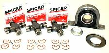 FORD F250 F350 2WD REAR CARRIER SUPORT BEARING U JOINT REPLACEMENT KIT SPICER