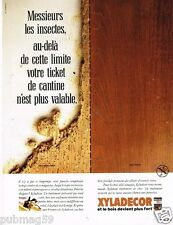 Publicité Advertising 1989 Vernis bois Xyladecor