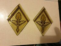 2 x Old small victorian hand painted piece of glass spares/repairs