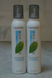 2 PACK. 8.8 oz. Matrix Biolage Hydro-Foaming Styler. Medium Hold Mousse. NEW.