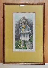 """GERALD MERMER Framed Print """"Rebeca Loves Flowers""""  Signed, 67/100"""