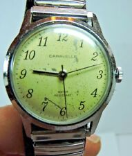 Vintage Bulova Caravelle Water Resistant Stainless Mens Wrist Watch Working #A11