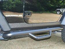 N-FAB Wheel to Wheel Nerf Step Bars 07-11 Jeep Wrangler JK 2 Door J0746 Black