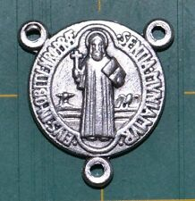 Rosary Centre Piece Saint Benedict Silver Tone 20 X 18mm