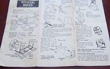 Munro hockey assembly instructions ,rules ,parts 1973 Servotronics