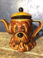 Vintage Dog  Tea Pot 1970s Kensington Teapot P+K Glazed Droopy Dog Tea Pot