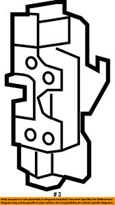 CHRYSLER OEM Front Door-Lock Actuator Motor 4589694AE