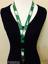 New! Nike Lanyard Green Keychain, ID Badge, cell phone holder