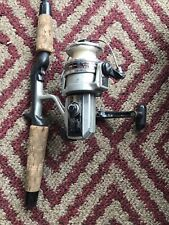 Vintage Shimano MLZ 30 Ball Bearing System Fishing Reel & Tebco Pole Not Tested