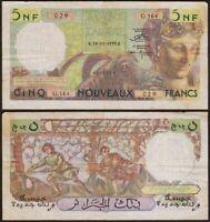 5 Nouveaux FRANCS 1959 ALGERIE / ALGERIA - P118 - Banque de l'Algérie