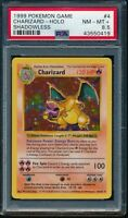 PSA 8.5 CHARIZARD 1999 Pokemon Base Unlimited SHADOWLESS #4/102 Holo Rare NM-MT+