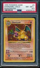 PSA 8.5 CHARIZARD 1999 Pokemon Base Unlimited SHADOWLESS #4/102 Holo Rare NM-MT+