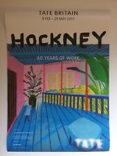 DAVID HOCKNEY, original exhibition poster, Tate gallery, London, 2017
