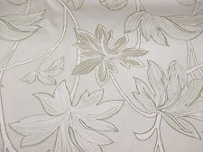 """""""Pergamino"""" Sombra (2) y hojas, floral, impreso Tafetán Cortina Tela"""