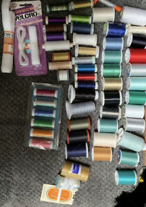 Sewing Thread Lot More Than 50 Pieces  Assorted Colors Miscellaneous
