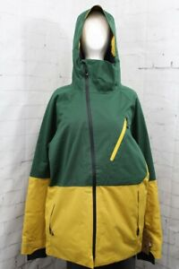 686 GLCR Hydra Thermagraph Snow Jacket, Men's Large, Pine Green Colorblock New