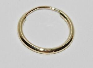 Men's 9ct Gold Single Sleeper Hoop Earring - Gent's - Real 9ct Gold