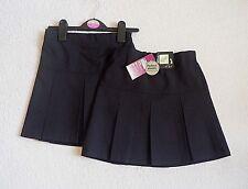 2x Girls Navy Permanent Crease Teflon Easy Iron Adj Waist School Skirt 5yr 110cm