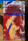 """large original abstract oil painting """"lost Under It All"""""""