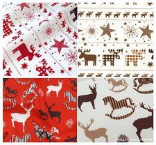 Telas y tejidos de navidad de 100% algodón para costura y mercería