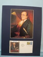 Ben Franklin  & First day Cover of his own stamp