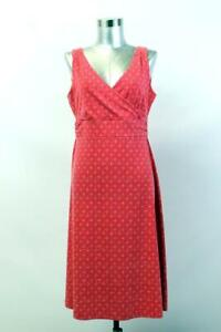 EDDIE BAUER TRAVEX Pink Circle Print EMPIRE WAIST DRESS Fit and Flare Athletic M