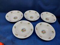 "Vintage Tabletops Unlimited ""Victoria"" Set/5 Soup/Cereal Bowls. Retired Pattern"