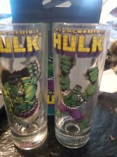 MARVEL HEROES 3 TALL SHOOTERS 2 OZ The Incredible HULK Shot Glasses new in box