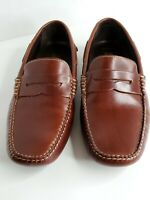 JOHNSTON & MURPHY Driving Men's Brown Leather Slip On Loafers Size 8.5 M