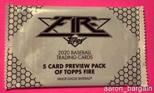 2020 Topps Fire Preview NBCD Exclusive Pack + Coupons Luis Robert/Trout?Judge?.