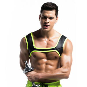 FR Neoprene Mens Harness Sports Shoulder Supports Braces Protective Gear Fitness