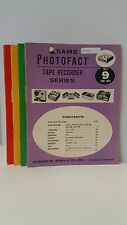 One (160 pages) of SAMS PHOTOFACT TAPE RECORDER SERIES TR-9 to TR-23