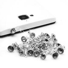 100pc Rhinestone Anti Dust Earphone Plug Cover Stopper Cap 3.5mm For Smart Phone