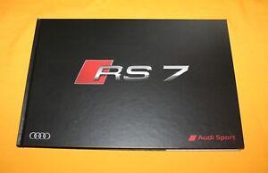 Audi RS 7 2015 Prospekt Brochure Depliant Catalog Prospetto Prospecto Broschyr