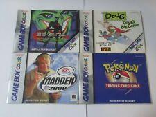 Nintendo Game Boy Color Instruction Manuals - Lot of 4 Booklets
