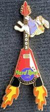 Hard Rock Cafe NOTTINGHAM 2003 EASTER PIN Bunny on Rocket V Guitar LE 150 #17729
