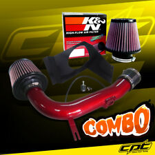 For 08-14 Impreza WRX/STI 2.5L 4cyl Red Cold Air Intake + K&N Air Filter