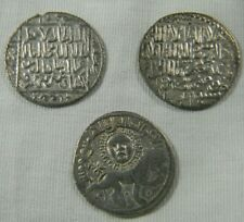 Seljuq Dynasty (3) Silver Seljuk Sultanate of Rum Dirham coin lot  (0761)