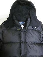 Rare Original Quaility Polo Ralph Lauren pony Down jacket coat black S more down