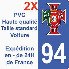 Sticker Autocollant immatriculation Département 94 Portugal FPF Val de Marne HQ