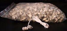 Bulk WHOLESALE Lot of 100 White/Gray 3.5mm Earbuds / Earphones / Headphones