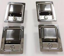 4 MILITARY HUMVEE Unpainted Locking door latches handles  M998 M1025 Hard Doors