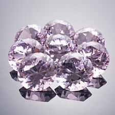 LONGWIN 8pcs 40mm Pink Crystal Diamond Shaped Paperweight Home Table Decor Gift