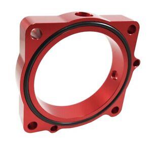 Torque Solution Throttle Body Spacer (Red): Dodge Challenger R/T / SRT8