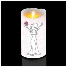 Happy Bride Wedding Fireless Candle Luminara Battery Operated PhiloSophies